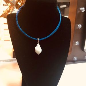Leather and Sterling Authentic Pearl 🧜♀️🌞🌊